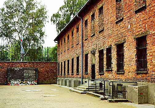 Block 11 at the Auschwitz main camp