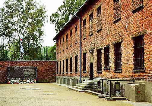 Block 11 at the Auschwitz main camp