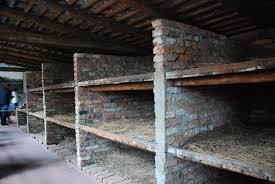 Interior of brick barrack building