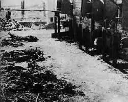 Bodies of prisoners found in the crematorium which was burned down