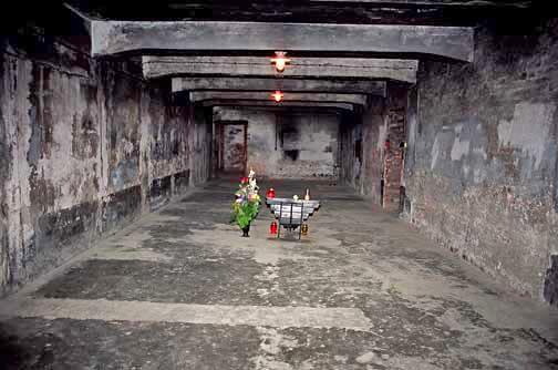 Gas chamber in main Auschwitz camp