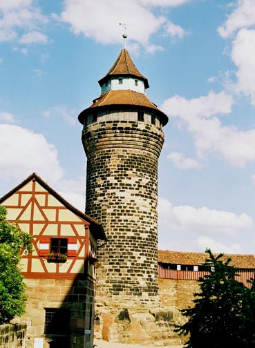 One of the towers at the Nuremberg castle