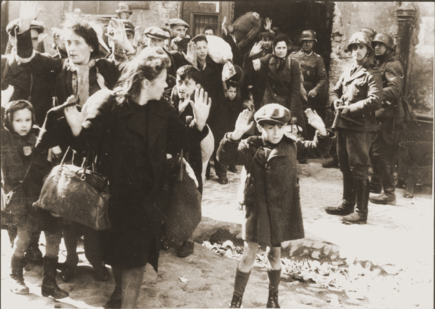 Famous photo included in the Stroop report on the Warsaw Ghetto uprising