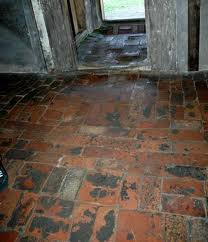 Uneven floor in brick barrack building is a hazzard