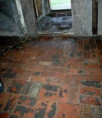 Uneven floor in brick barrack building is a hazzard