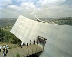 Entrance into Yad Vashem museum in Israel