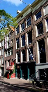 The house in front of the annex where Anne Frank hid from the Nazis