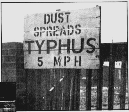 A sign that was put up by the British at Bergen-Belsen concentration camp