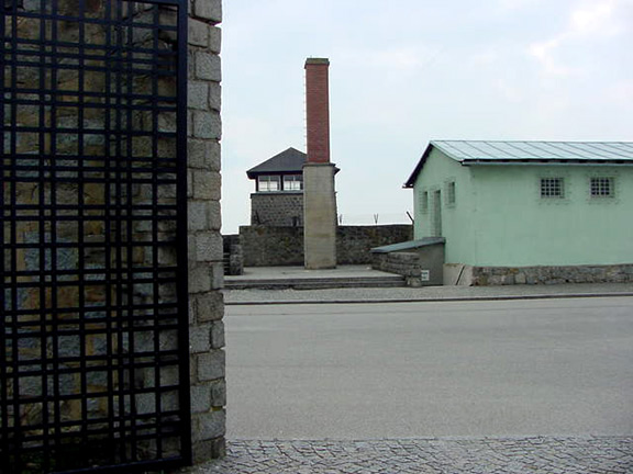 Steps down into the Crematorium at Mauthausen