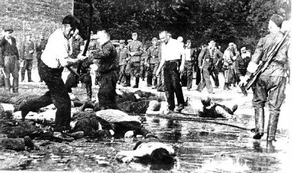 Jews were beaten to death by their neighbors in Kovno, Lithuania