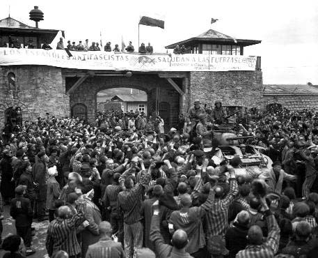 The liberation of Mauthausen was re-enacted on May 6, 1945 when soldiers of the 11th Armored Division arrived