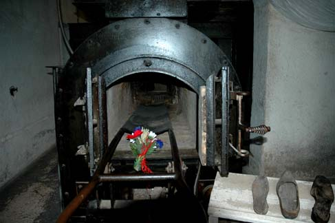 The one cremation oven at the Natzweiler camp