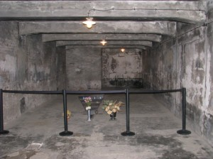 2012 photo of gas chamber in the Auschwitz main camp
