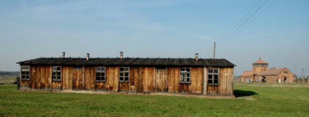 My 2005 photo of old building at Auschwitz-Birkenau