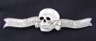 Death's Head emblem worn by German SS soldiers in World War II.
