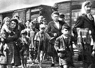 Sudeten Germans being expelled from the Sudetenland after World War II