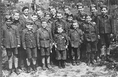Children at Buchenwald, most of whom  were orphans