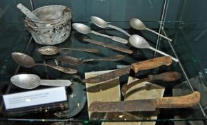 Spoons used by prisoners at Majdanek Photo Credit: José Ángel
