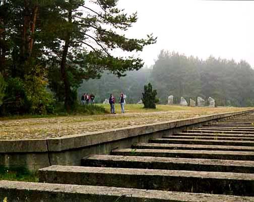 The spot where trains stopped inside Treblinka camp