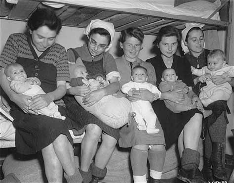 Mothers with babies who were liberated at Dachau