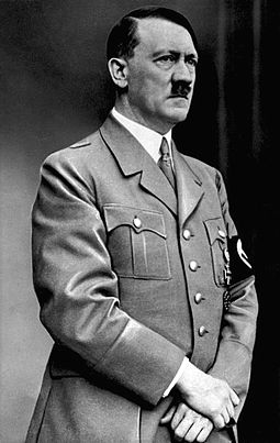 Hitler with a toothbrush mustache
