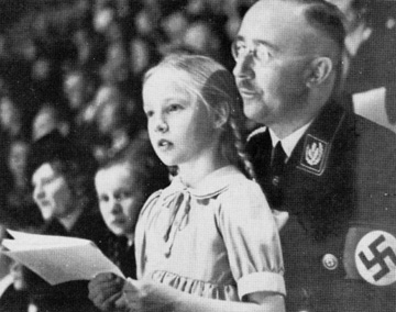 "Heinrich Himmler and his beloved daughter ""Puppi"""