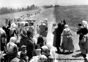 Palestinians forced to leave Palestine when Israel became a counry