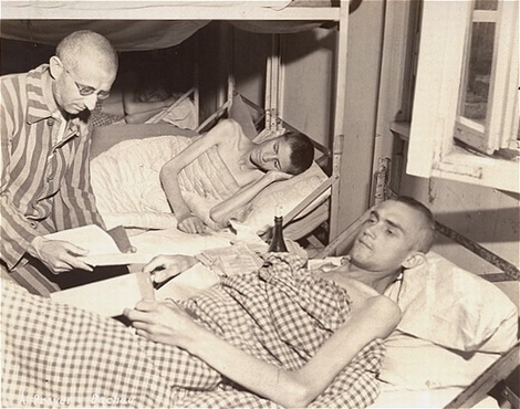 Two sick prisoners in the Dachau infirmary