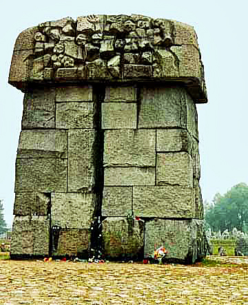 Monument at the Treblinka II death camp