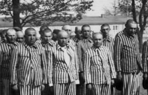 Hungarian prisoners at Auschwitz-Birkenau