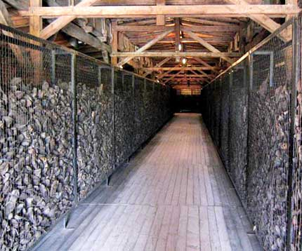 Thousands of shoes, taken from the prisoners at Majdanek, are still stored there
