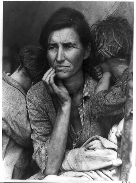 Famous photo from the Depression days in America