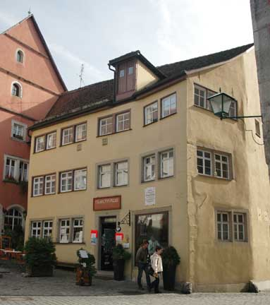 House where Nunsch lived in Rothenburg