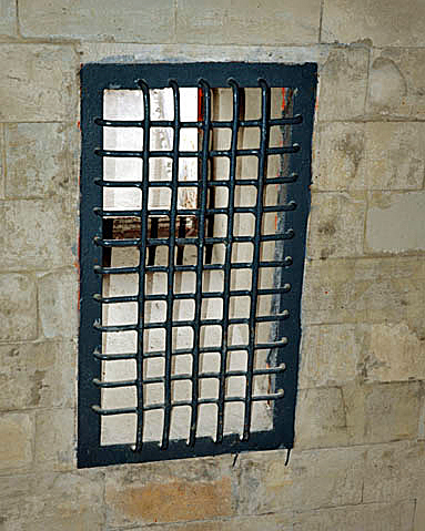 My 2007 photo of one of the openings on the  wall of the Dachau gas chamber