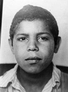 A mixed race German boy