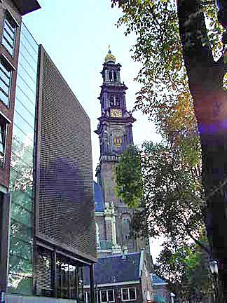 Church that is very near the Anne Frank House