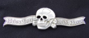 Death's Head emblem worn by SS men on their caps.