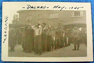 German soldiers were imprisoned at Dachau