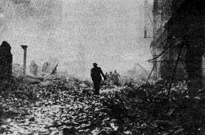 Photo of Hamburg after the city was bombed