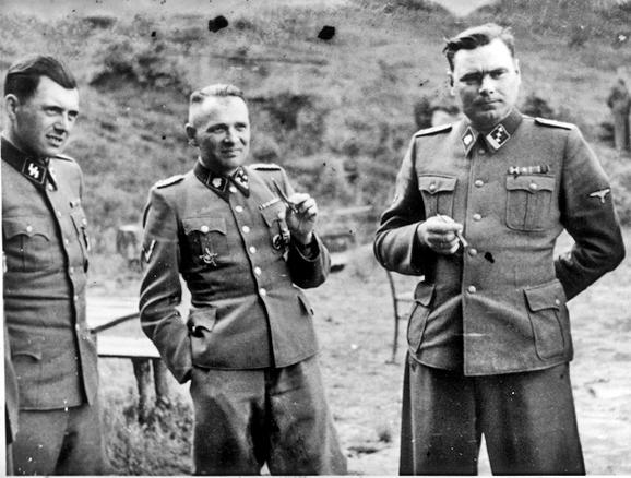 Dr. Josef Mengele, Rudolf Hoess, and Josef Kramer
