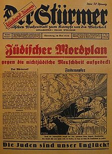 German newspaper lists the ritual murders allegedly committed by the Jews
