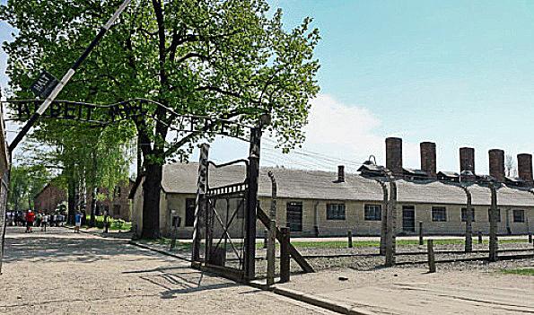 Auschwitz kitchen was originally painted white