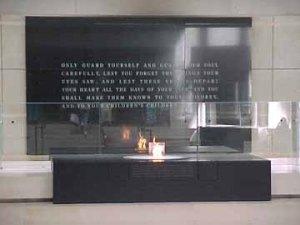 Altar in USHMM has an eternal flame