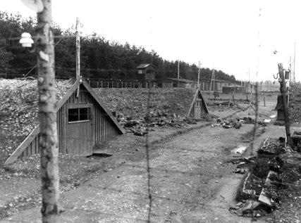 Barracks at Kaufering IV sub-camp of Dachau were partly underground