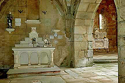 Side altar in the church at Oradour-sur-Glane is in pristine condition