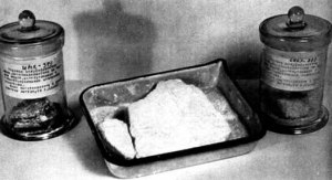 Soap made from Jewish fat was shown as evidence at the Nuremberg IMT