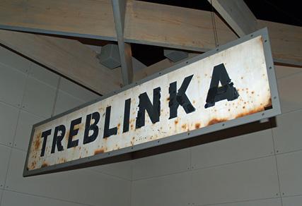 Original sigh that hung at the fake train station at Treblinka  Photo Credit: Yad Vashem