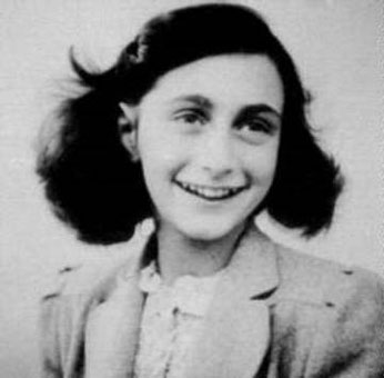 Famous photo of Anne Frank at the age of 13