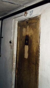 Door into Cell #27 in basement of Block 11