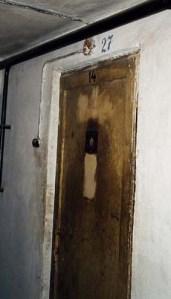 Door into Cell #27 in basement of Block 11